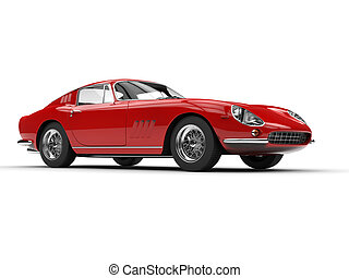 Red classic vintage sports car