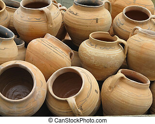 Clay Traditional Cyprus Jar Large Traditional Jar From