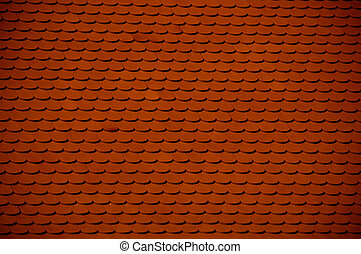 red clay roof tile background