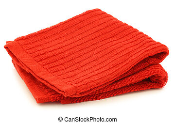 red cleaning cloth
