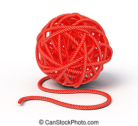 clew - red clew isolated on a white background