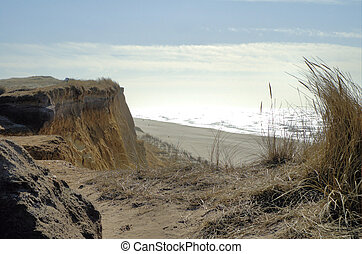 Red cliff2 - Red cliff on the island Sylt in northern ...