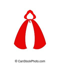 Red cloaks Template isolated. Little Red Riding Hood clothes