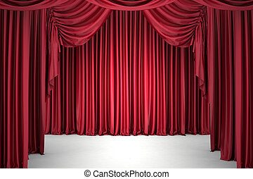 Red closed the curtain - Red closed the curtain, lit by a...