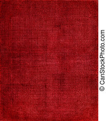 Red Cloth Background - An vintage red book cover with a...