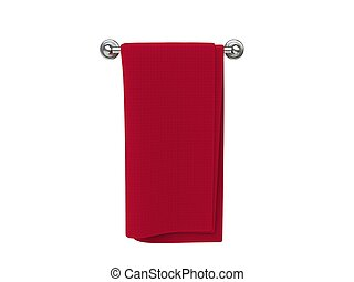 Red cloth on a cloth hanger