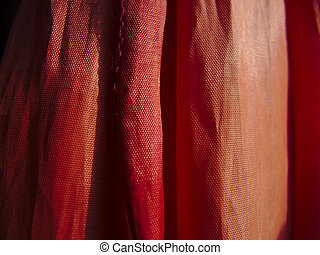 Red cloth texture in high contrast