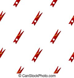 Red clothes pin pattern flat