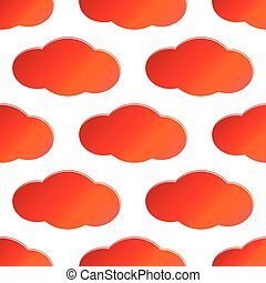 Red cloud pattern