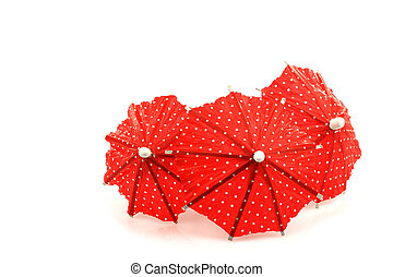 red cocktail umbrella's