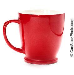 red coffee cup. isolated