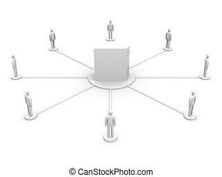 red, colaboración