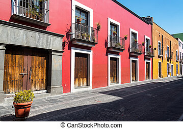 Red Colonial Architecture