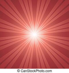 red color burst background.