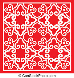 Classical Oriental Pattern - Red Color Classical Oriental ...