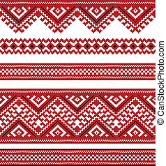 red color embroidered good like handmade