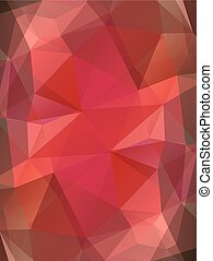 Red color glass abstract background