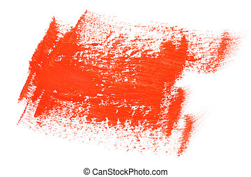 Red color paint brush strokes