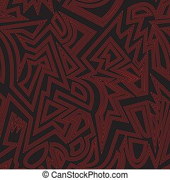 Red color tribal seamless pattern