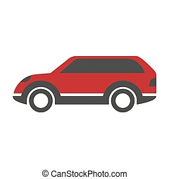 Red colored crossover car