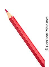 Red colouring crayon pencil
