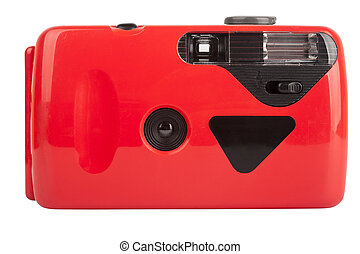 Red compact film camera