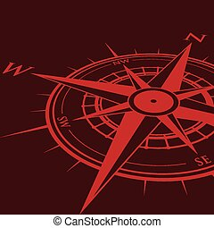 red compass background