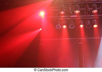 Red concert lights