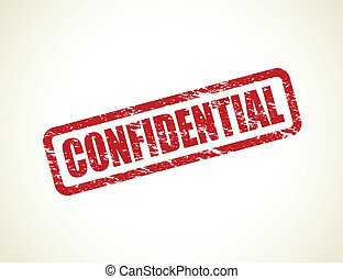 confidential stamp - red confidential stamp