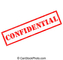 Red Confidential weathered stamp ready for use or for a...