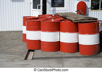 Red containers