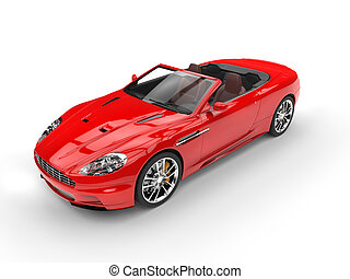 Red convertible sports car - top