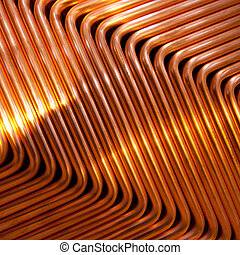 Red copper abstract pattern