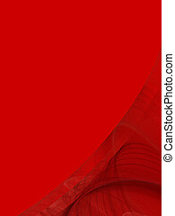 Red Copy Space With Corner Design