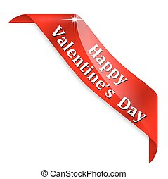 Happy Valentine's day - Red corner with the words Happy...
