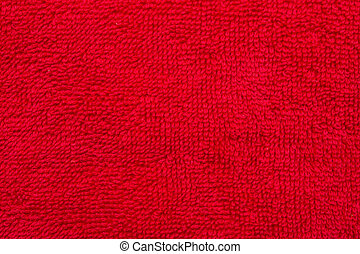 Red Cotton Cloth Material Texture Close Up