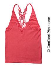 Red Cotton Women's T-shirt.