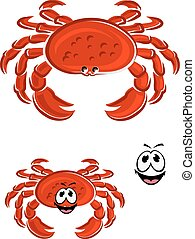 Red crab animal cartoon character