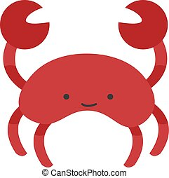 Red crab, illustration, vector on white background.
