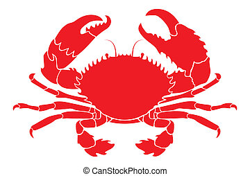 Simple Vector illustration of a red crab