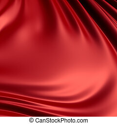 Red creased cloth / material. Clean, detailed render. Backgrounds series.