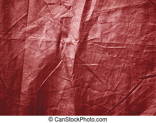 Red creased textured background