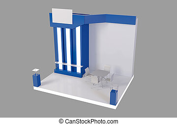 Exhibition Stall Xl : Red creative exhibition stand design. booth template. 3d render