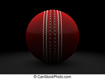 Red Cricket Ball Straight On