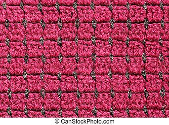 Red crochet fabric