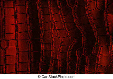 Red crocodile leather texture, as background.