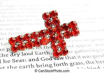 Red cross and bible