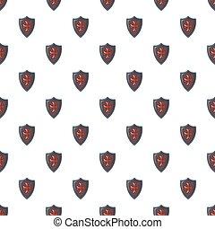 Red cross classic shield pattern seamless