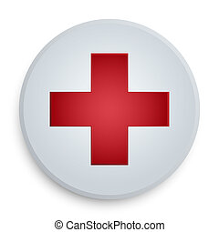 red cross medical button symbol
