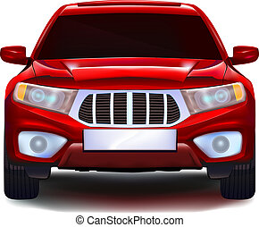 Red crossover car